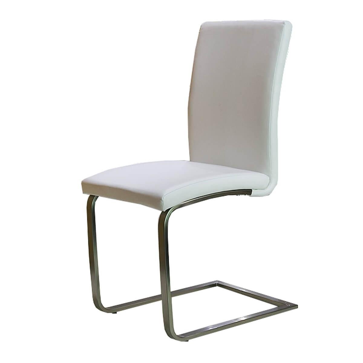 Schwingstuhl (4er-Set) in Kunstleder Weiß
