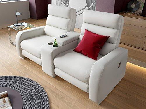 Heim Kinosofa Relaxsofa Funktionssofa Leder Sofa Couch Recliner Relax-Sessel