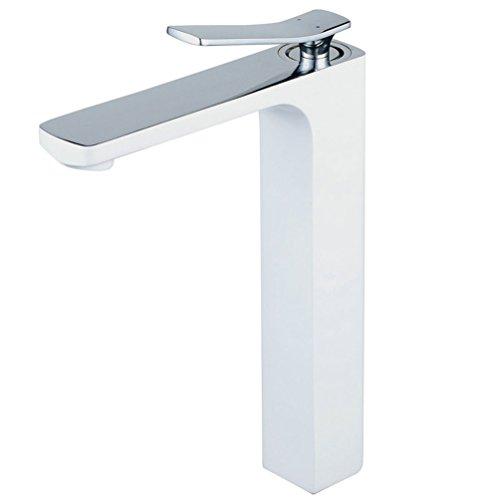 Hiendure® weiß Mischbatterie Waschbeckenarmatur Waschtischarmaturen Waschtischarmatur Wasserhahn Armatur Badarmatur Waschtisch Waschbecken