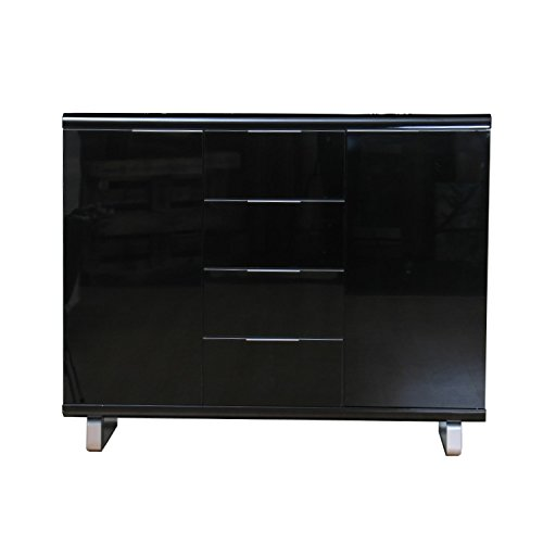 highboard milano kommode schwarz hochglanz m bel24. Black Bedroom Furniture Sets. Home Design Ideas