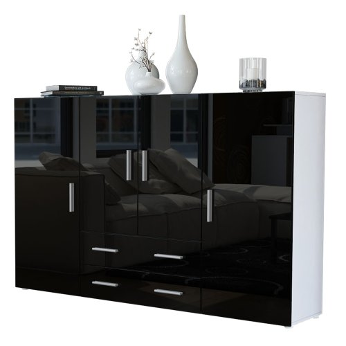 highboard sideboard nora korpus in wei matt front in. Black Bedroom Furniture Sets. Home Design Ideas