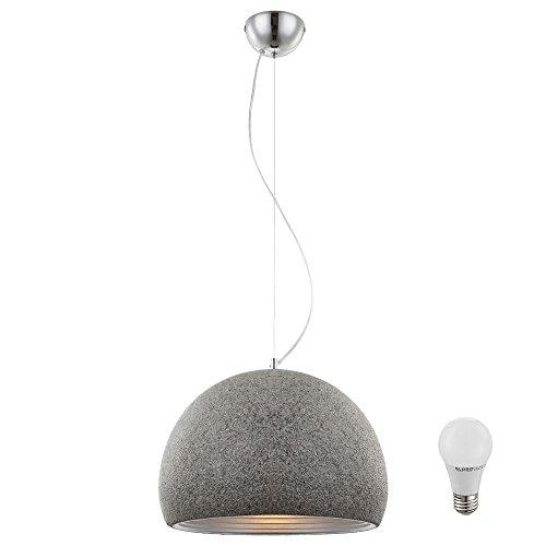Hänge Decken Pendel Leuchte Stein Optik Kugel im Set inkl. LED-Leuchtmittel