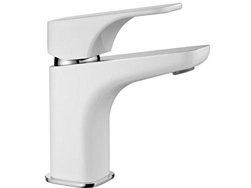 Hochwertige Waschtischarmatur- Armatur-Hochdruckarmatur-Einhebelmischer-Badarmatur-Weiß Glänzend -NEUHEIT-Modell:HIAZYNT-Fa.Deante