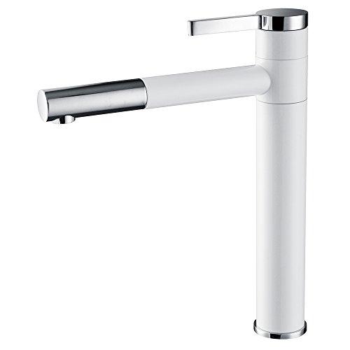 Homelody® 360°drehbar weiss Wasserhahn Waschbecken Armatur Mischbatterie Waschbeckenarmatur Armaturen