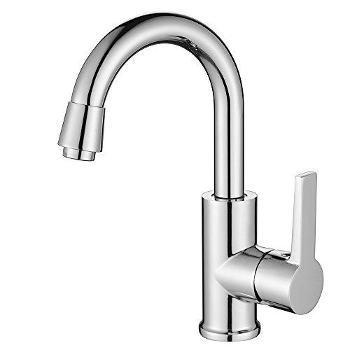 Homelody® Chrom 360° drehbar Wasserhahn Küchenarmatur Bad Waschtisch Armatur Waschbecken Waschbeckenarmatur BadarmaturMischbatterie für Badzimmer/Küche