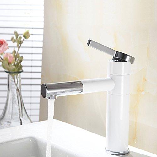 Homelody Wasserhahn bad mit Lack beschichtet Waschtischarmatur Einhebelmischer einhebel Mischbatterie Waschtisch Armatur Waschbeckenarmatur Waschtischmischer Badarmatur für Bad