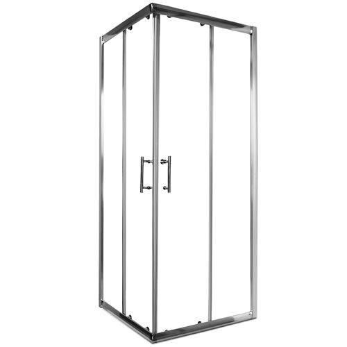 Homelux SDN90 Eckdusche Dusche Duschkabine im Format 90 x 90 x 185 cm mit 6 mm Sicherheitsglas und Nanobeschichtung inkl. Montagematerial