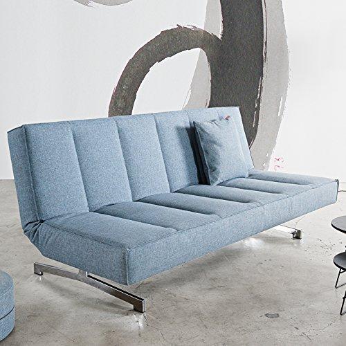 Innovation Schlafsofa Odin Chrome Textil hellblau
