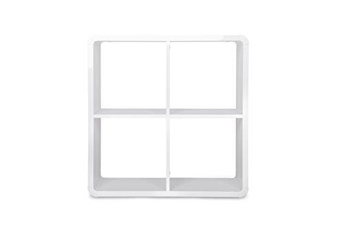 Intertrade 001549 Regal Ruby 4-er Würfel, 73 x 73 x 33 cm, hochglanz weiß