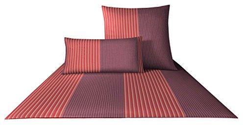 JOOP! Bettwäsche Double Stripes 4054 Fb. 1 - Grenadine Größe: 135 x 200 cm