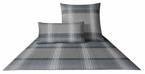 JOOP! Bettwäsche Fineline Pattern 4053 Fb. 9 - Silber Größe: 135 x 200 cm