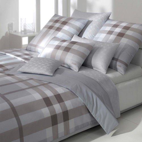 JOOP! Bettwäsche Shaded Squares 4504-9 grau Kissenbezug einzeln 80x80 cm
