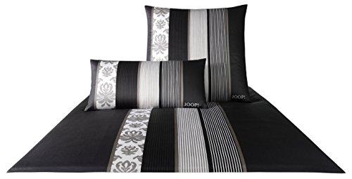 JOOP Satinbettwäsche Ornament Stripes Fb. 9 - Schwarz Größe: 135 x 200 cm