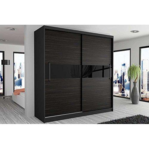 justhome simply i schwebetrenschrank kleiderschrank garderobenschrank 218x133x60 cm farbe. Black Bedroom Furniture Sets. Home Design Ideas