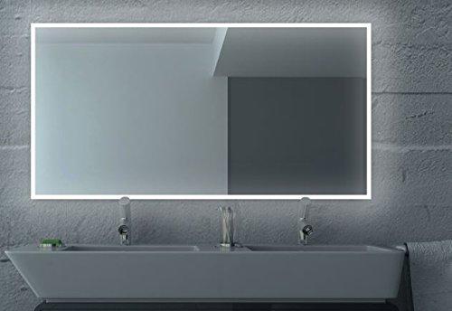 LED Badezimmerspiegel BADSPIEGEL Wandspiegel Bad Spiegel Lichtspiegel S100 (Breite: 80 x Höhe: 60 cm)