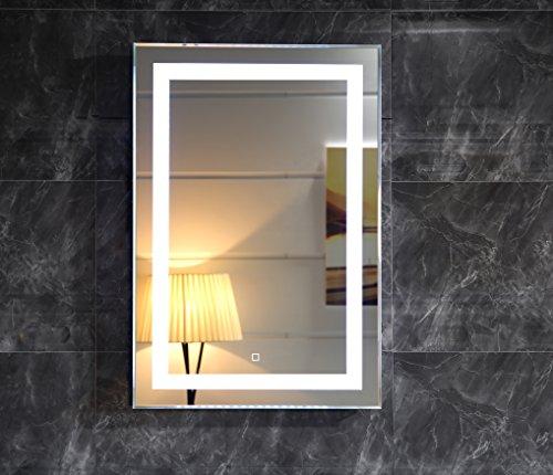 LED-Beleuchtung Badspiegel GS099 Lichtspiegel Wandspiegel 50x70cm mit Touch-Schalter Tageslichtweiß IP44