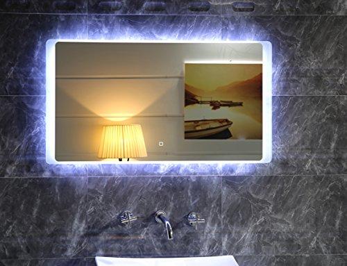 LED-Beleuchtung TOUCH SCHALTER Badspiegel GS044 Lichtspiegel Wandspiegel 80x60cm