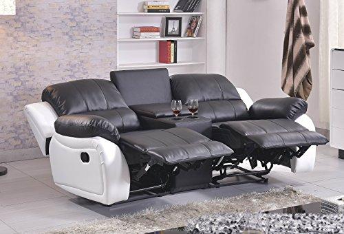 ledersofa kinosofa relaxcouch fernsehsofa 5129 cup 2 sw. Black Bedroom Furniture Sets. Home Design Ideas