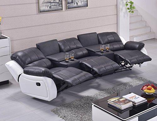 ledersofa kinosofa relaxcouch fernsehsofa 5129 cup 3 sw. Black Bedroom Furniture Sets. Home Design Ideas