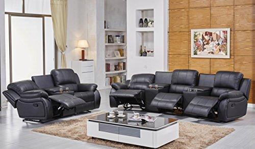 Ledersofas Kinosofas Relaxcouch Fernsehsofas 5129-Cup-3+2-S