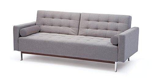 schlafsofa mit g stebettfunktion und laminat bettkasten in wei federkernpolsterung 2. Black Bedroom Furniture Sets. Home Design Ideas