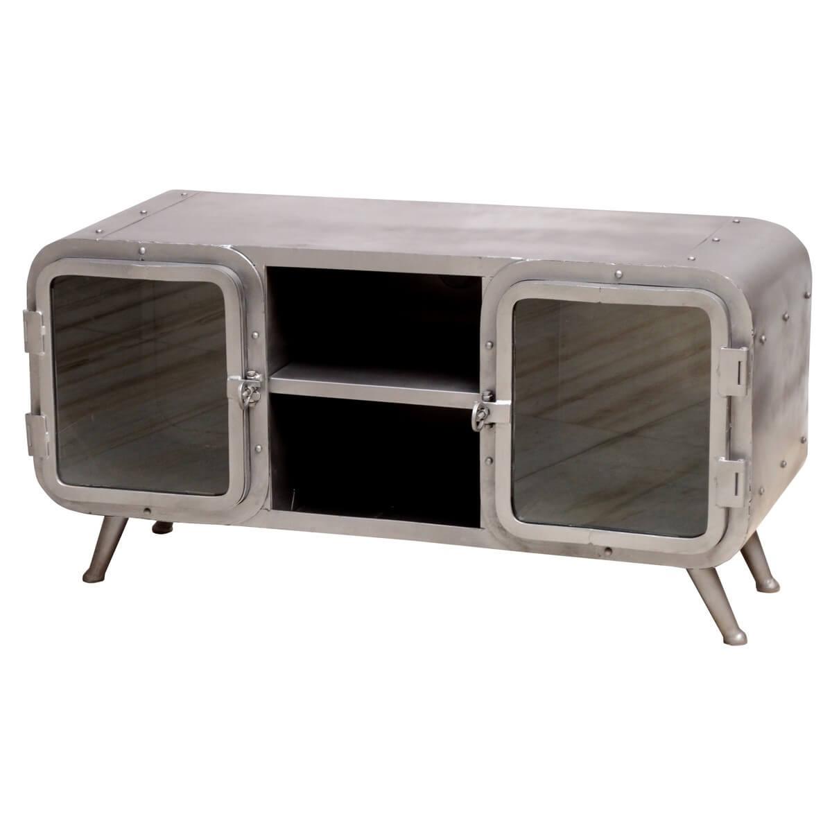 lowboard aus metall und glas m bel24. Black Bedroom Furniture Sets. Home Design Ideas