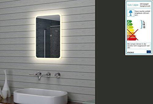 Lux-aqua Design LED Badezimmerspiegel Lichtspiegel Wandspiegel Spiegel 40x60cm