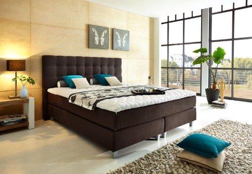 Luxus Boxspringbett 180x200 Härtegrad H4 in dunkelgrau inkl. Topper - Premiumklasse für 5 Sterne Hotels - günstig direkt vom Importeur