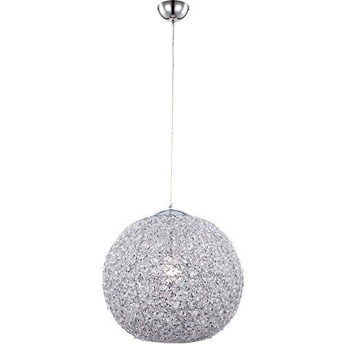 Luxus LED 10,5 Watt Hänge Leuchte Chrom Pendel Esszimmer Lampe Kugel Alu rund