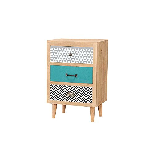 nachtkonsole in bunt gemustert retro pharao24 m bel24. Black Bedroom Furniture Sets. Home Design Ideas