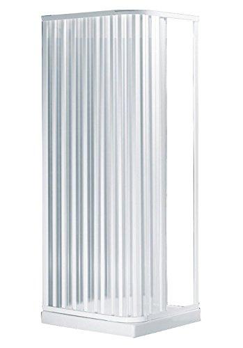 Negrari S2B80 Duschkabinenwand, mit 2 beweglichen Türen, aus PVC, transparent, 80 x 80 x 184H cm
