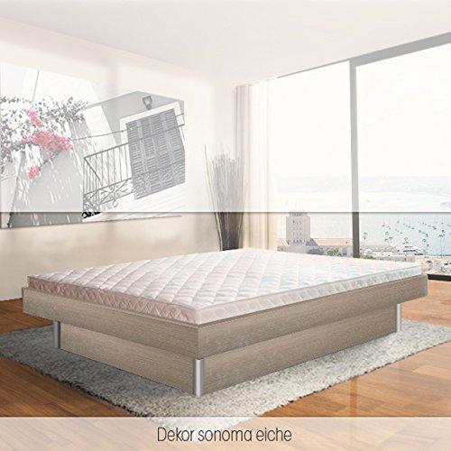 ORIGINAL bellvita Mesamoll II Wasserbett inkl. Lieferung mit Aufbau durch Fachpersonal in Komforthöhe und Bettrahmen 140 cm x 200 cm