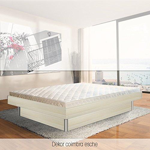 ORIGINAL bellvita Mesamoll II Wasserbett inkl. Lieferung mit Aufbau durch Fachpersonal in Komforthöhe und Bettrahmen 180 cm x 200 cm (esche)