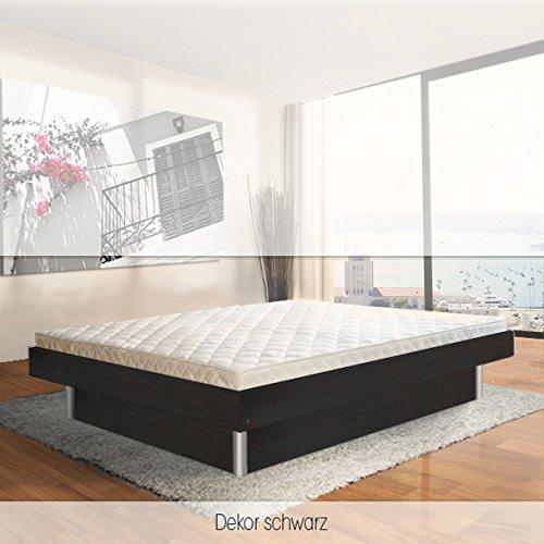 ORIGINAL bellvita Mesamoll II Wasserbett inkl. Lieferung mit Aufbau durch Fachpersonal in Komforthöhe und Bettrahmen 200 cm x 200 cm