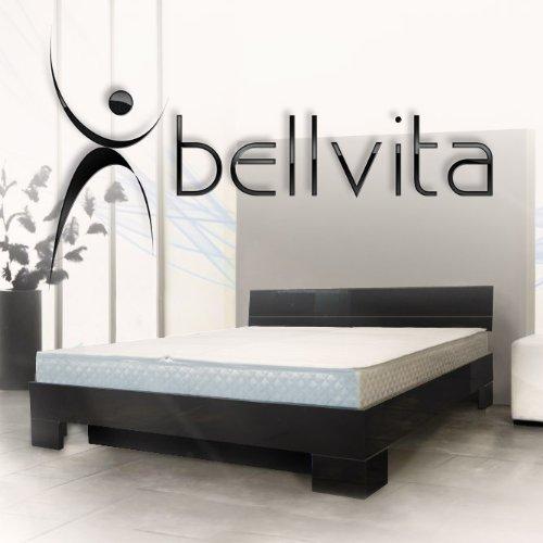 ORIGINAL bellvita Wasserbett mit Hochglanz-Bettrahmen schwarz mit Aufbau, 200 cm x 220 cm