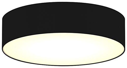 Ranex Ceiling Dream Collection Moderne Deckenleuchte, Durchmesser 40 cm, schwarz / satinierte Abdeckung 6000.543