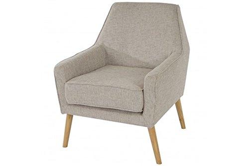 Retro Club Sessel Polstersessel grau 50er Loungesessel Skandinavisches Design