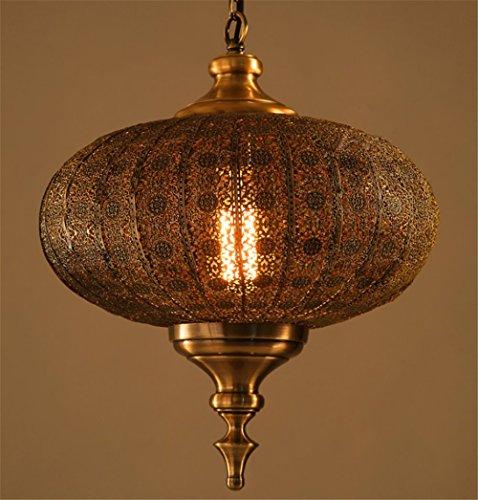 Retro Industrie Design Pendelleuchte im Loft-Style Esszimmer Vintage Retro Hängeleuchte Lampe Wohnzimmer Mode Kreative Persönlichkeit Laterne kronleuchter,1 X E27, Ø 36 cm