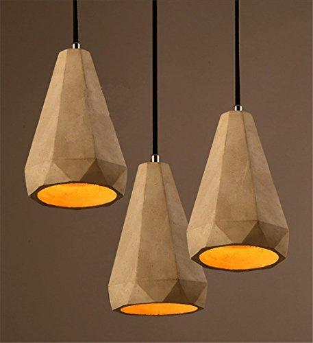 Retro Industrie Design Pendelleuchte im Loft-Style Esszimmer Vintage Retro Hängeleuchte Lampe Wohnzimmer Mode Kreative Zement Persönlichkeit kronleuchter,1 X E27, Ø 12cm