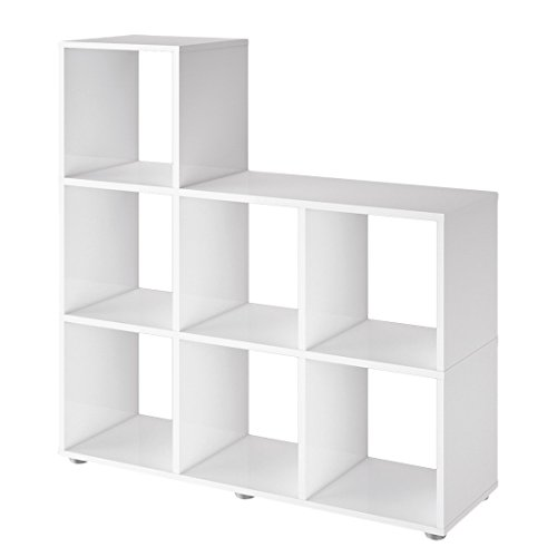 Schildmeyer 124786 Regal, 104 x 106 x 33 cm, weiß