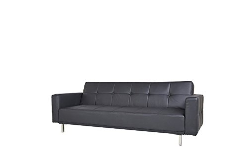 schlafsofa luis schwarz schlafcouch stoff schlaffunktion sofa m bel24. Black Bedroom Furniture Sets. Home Design Ideas