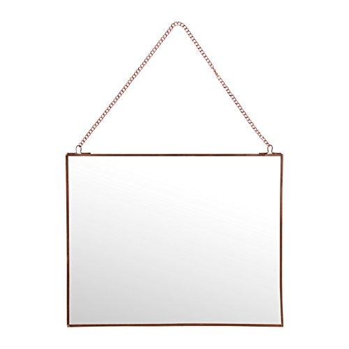 Sema 98953Wandspiegel rechteckig klein Metall Rosa Gold 0,05x 30x 24cm