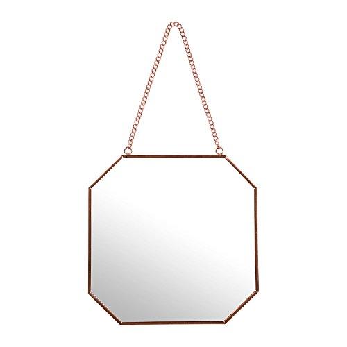 Sema 98959Wandspiegel Sechskant klein Metall Rosa Gold 0,05x 19x 18,5cm