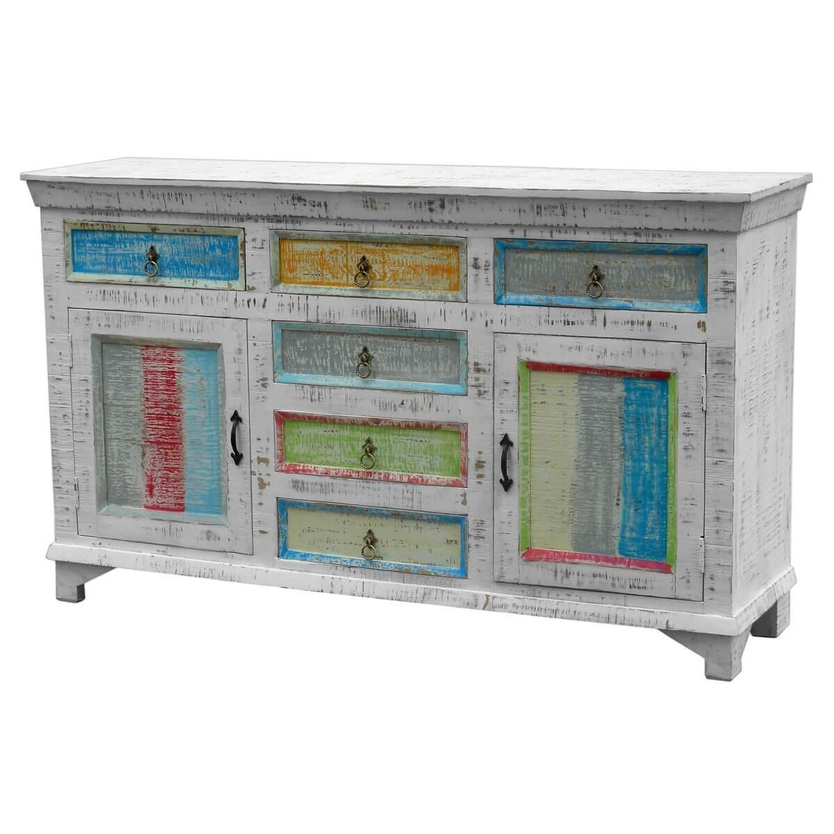 Sideboard aus massivholz antik wei pastell m bel24 for Moebel24 shop