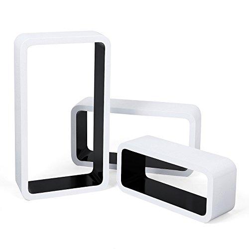 songmics 3er set wandregal lounge cube regal retro rack h ngeregal weiss schwarz lws95b m bel24. Black Bedroom Furniture Sets. Home Design Ideas