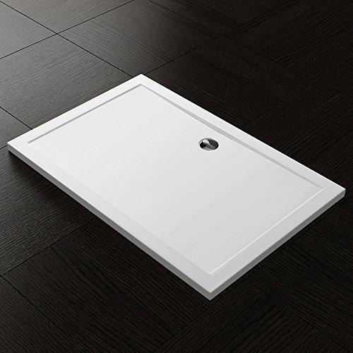 TBH: 80x120x4cm Design Duschtasse Faro2 in Weiß, Duschwanne, Acrylwanne