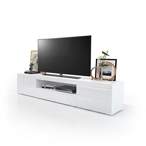 tv board lowboard santiago korpus in wei hochglanz. Black Bedroom Furniture Sets. Home Design Ideas