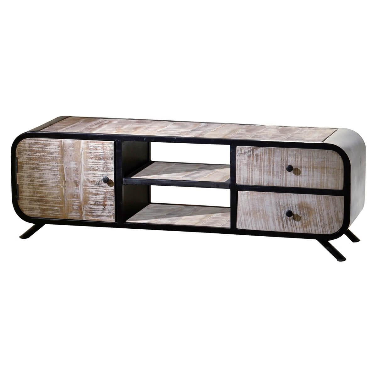 tv board massivholz metall m bel24. Black Bedroom Furniture Sets. Home Design Ideas