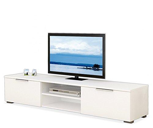TV Lowboard TV Bank weiß Hochglanz Mico
