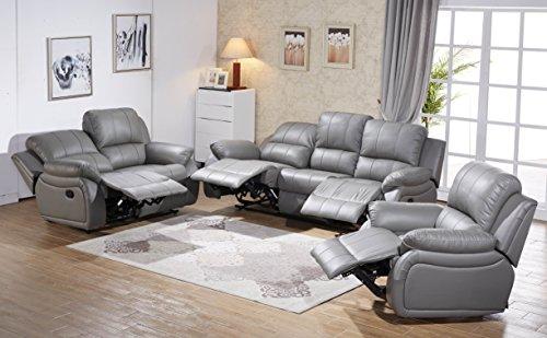 Voll-Leder Sofagarnitur Fernsehsofas Relaxsofas 5129-3+2+1-0326